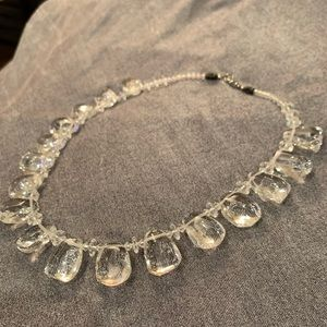 🆕🔥Natural Clear Stone Handmade Necklace